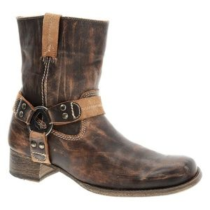 Bed Stu Harness Roma Moto Western Boots Distressed